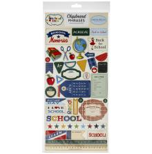 Carta Bella School Days Chipboard 6X13 - Phrases
