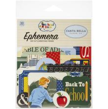 Carta Bella School Days Cardstock Die-Cuts 33/Pkg - Ephemera