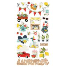 Simple Stories Chipboard Stickers 6X12 27/Pkg - Summer Farmhouse