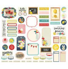 Simple Stories Bits & Pieces Die-Cuts 57/Pkg - Summer Farmhouse