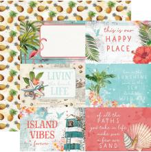 Simple Stories Simple Vintage Coastal Cardstock 12X12 - 4X6 Elements