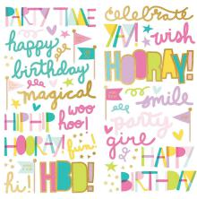 Simple Stories Foam Stickers 69/Pkg - Magical Birthday