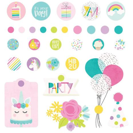 Simple Stories Decorative Metal Brads 30/Pkg - Magical Birthday