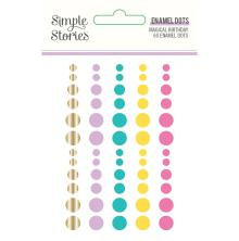 Simple Stories Enamel Dots 60/Pkg - Magical Birthday