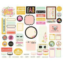 Simple Stories Journal Bits & Pieces Die-Cuts 57/Pkg - Kate & Ash