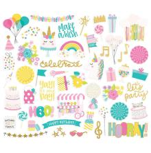 Simple Stories Bits & Pieces Die-Cuts 52/Pkg - Magical Birthday