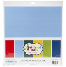 Carta Bella Double-Sided Solid Cardstock 12X12 6/Pkg - School Days