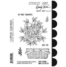 Wendy Vecchi Cling Stamps - Rosy Art