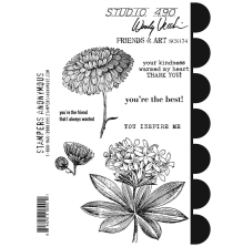 Wendy Vecchi Cling Stamps - Friends & Art
