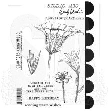 Wendy Vecchi Cling Stamps - Funky Flower Art