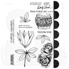 Wendy Vecchi Cling Stamps - Bold Floral Art