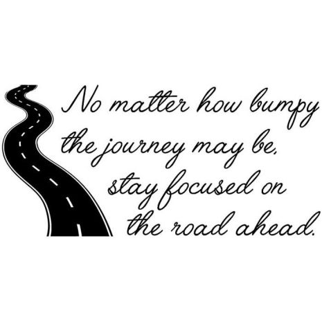 Verses Rubber Stamps - Road Ahead