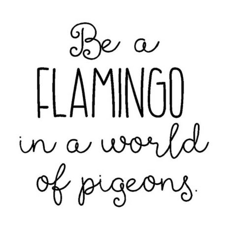 Verses Rubber Stamps - Be A Flamingo