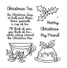 Inky Antics Clear Stamp Set - Christmas Tea