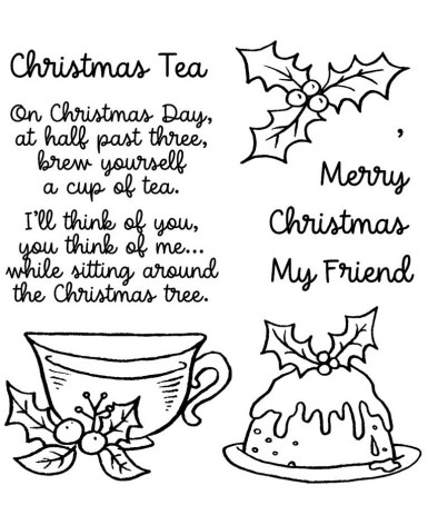 Inky Antics Clear Stamp Set - Christmas Tea