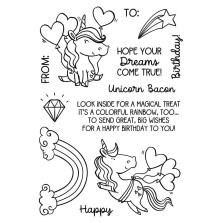 Inky Antics Clear Stamp Set - Unicorn Birthday