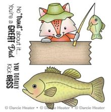 Darcies Clear Polymer Stamp Set - No trout About It