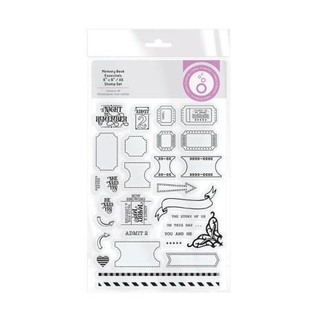 Tonic Studios Stamps 6X8 - Memory Book Essentials 3064E
