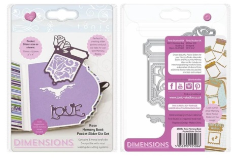 Tonic Studios Dimension Memory Book Dies - Rose Memory Book Pocket - 2508E