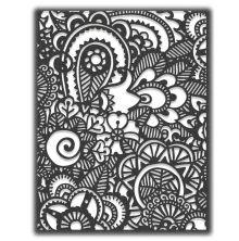 Tim Holtz Sizzix Thinlits Die - Doodle Art #2 20-04