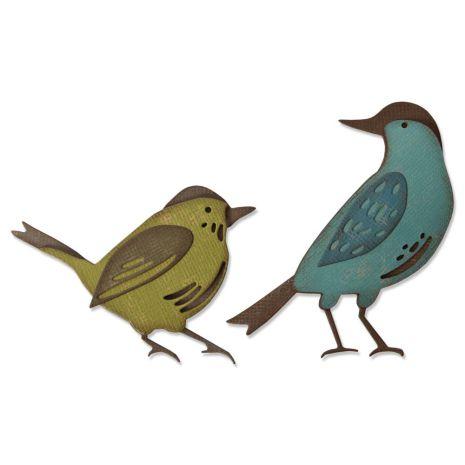 Tim Holtz Sizzix Thinlits Dies - Feathered Friends 20-04