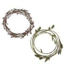 Tim Holtz Sizzix Thinlits Dies - Funky Wreath 20-04