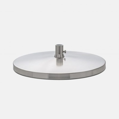 Daylight Slimline Table Base - Brushed Chrome