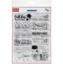 Concord & 9th - Stamping Village Clear Stamps 6X8 - Happy Birthday