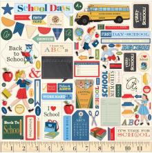 Carta Bella School Days Cardstock Stickers 12X12 - Elements