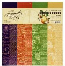 Graphic 45 Double-Sided Paper Pad 12X12 16/Pkg - Fruit & Flora