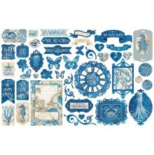 Graphic 45 Cardstock Die-Cuts - Ocean Blue