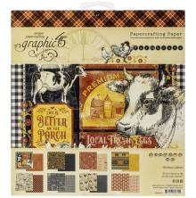 Graphic 45 Double-Sided Paper Pad 8X8 24/Pkg - Farmhouse