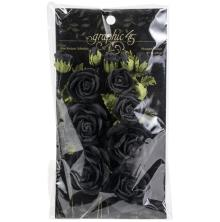Graphic 45 Staples Rose Bouquet Collection 15/Pkg - Black