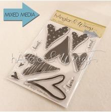 hÄnglar & Wings Clear Stamps - Hjärtan