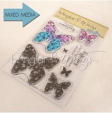 hÄnglar & Wings Clear Stamps - Fjärilar