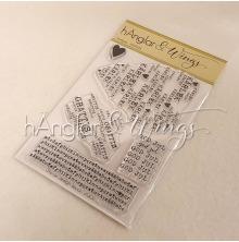 hÄnglar & Wings Clear Stamps - Texthjärta