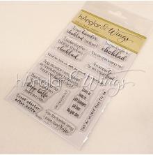 hÄnglar & Wings Clear Stamps - Kaffe och Choklad