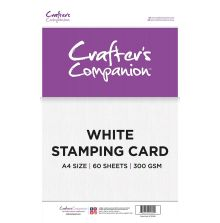 Crafters Companion White Stamping Card 60/Pkg A4