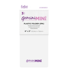 Gemini Mini Accessories Plastic Folder 3/Pkg