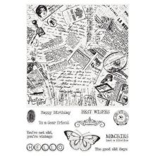 Crafters Companion Large Background Stamp - Newspaper Collage