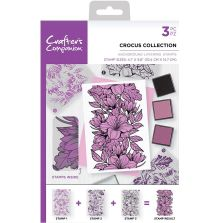 Crafters Companion Background Layering Stamps - Crocus Collection