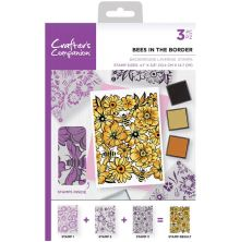 Crafters Companion Background Layering Stamps - Bees in the Border