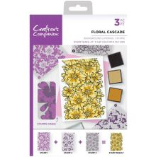 Crafters Companion Background Layering Stamps - Floral Cascade