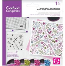Crafters Companion Background Rotation Stamp - Natural Beauty