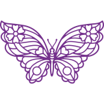 Gemini Elements Decorative Outline Die - Bold Butterfly