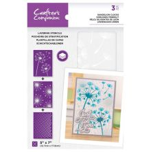 Crafters Companion Layering Stencils - Dandelion Clocks