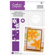 Crafters Companion Layering Stencils - Timeless Lilies